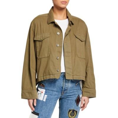 ラグアンドボーン レディース ジャケット・ブルゾン アウター Swingback Button-Front Jacket