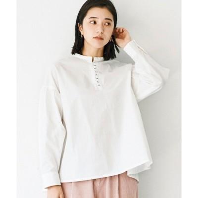 シャツ ブラウス 【佐藤かなさんプロデュース】 アヴェクモワ ボタンいっぱいシャツ〈ホワイト〉