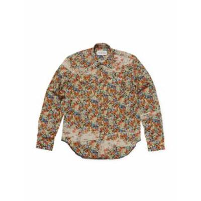 メゾンマルジェラ Men Clothing Printed Spread Collar Cotton Sportshirt