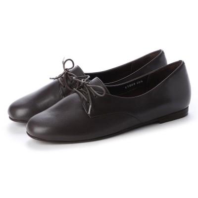 クートゥーフォロワーシューズ KuToo Follower Shoes ジェンダーフリー外羽根レースアップシューズ (ダークブラウン)