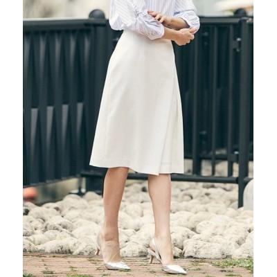 【ロートレ・アモン】 シワになりにくいきれいめアシンメトリータックタイトスカート レディース ホワイト 36(1) LAUTREAMONT