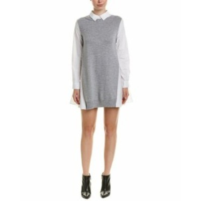 ファッション ドレス English Factory Sweater Combo Shirtdress