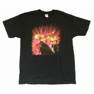 Man  ファッション トップス Elton John-Elton-Rocket Man Tour 2008-Black T-shirt