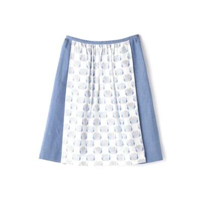 【ヒューマンウーマン】 《arrive paris》フレアラインミディスカート レディース ブルー S HUMAN WOMAN