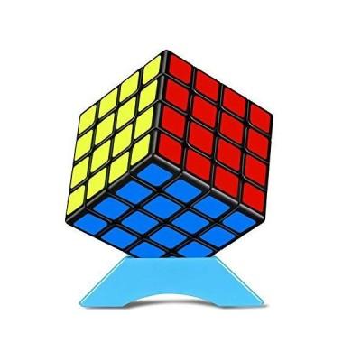 魔方 4X4 パズル [2021最新] 立体パズル-競技用 ポップ防止 知育玩具【6面完成攻略書付き】スタンド付き