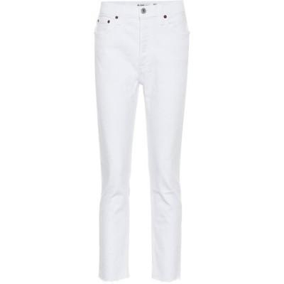 リダン Re/Done レディース ジーンズ・デニム ボトムス・パンツ Mid-Rise Cropped Skinny Jeans White