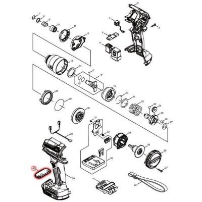 マキタ 部品 スイッチプレートコンプレート 140A52-6 図番040 TD171D/TD161D用