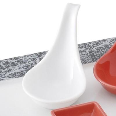 業務用食器 ピュアホワイト置レンゲ 10×5.8×7cm もだんコントラスト