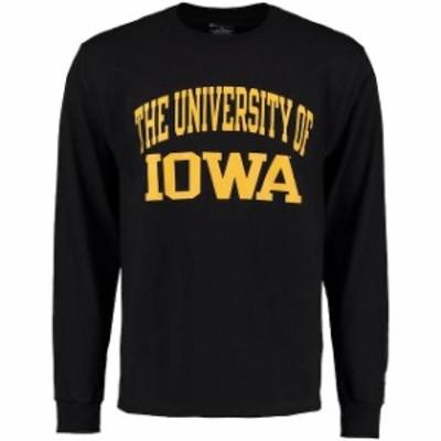 Champion チャンピオン スポーツ用品  Champion Iowa Hawkeyes Black University Long Sleeve T-Shirt