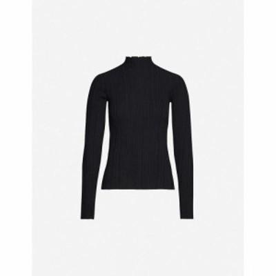 アクネ ストゥディオズ ACNE STUDIOS レディース ニット・セーター トップス High-neck cotton-blend knit top BLACK