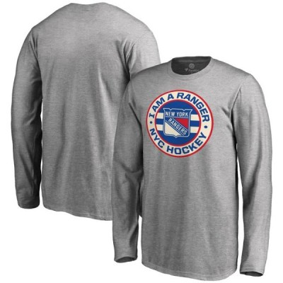 キッズ スポーツリーグ ホッケー New York Rangers Youth Hometown Collection I Am A Ranger Long Sleeve T-Shirt - Ash Tシャツ