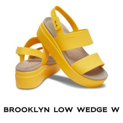 【クロックス crocs レディース b】brooklyn low wedge /ブルックリン ロウ ウェッジ ウィメン/カナリーxカナリー