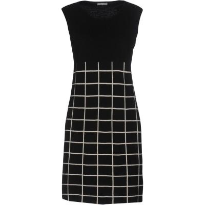 コッカ KOCCA ミニワンピース&ドレス ブラック XL レーヨン 40% / ナイロン 30% / ウール 25% / カシミヤ 5% ミニワン