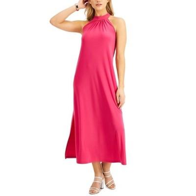 バースリー ワンピース トップス レディース Halter Maxi Dress, Created for Macy's Pink Punch