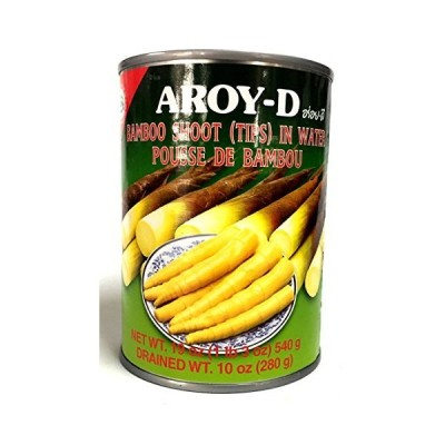 AROY-D BAMBOO SHOOT (TIPS) IN WATER / POUSSE DE BAMBOU / タケノコホール 280g 小竹笋