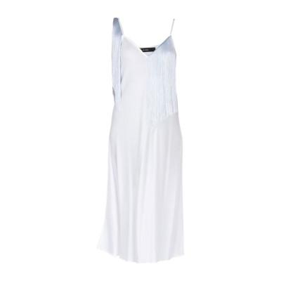 エラリー ELLERY 7分丈ワンピース・ドレス ホワイト 8 アセテート 80% / ポリエステル 20% 7分丈ワンピース・ドレス