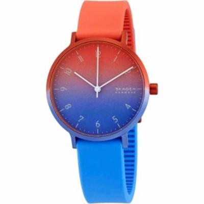 スカーゲン Skagen レディース 腕時計 クォーツ式時計 Aaren Ombre Quartz Watch SKW2901 Blue/Red