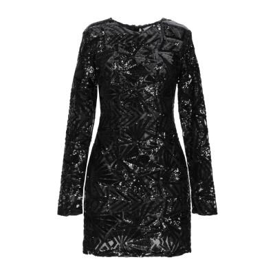 パロッシュ P.A.R.O.S.H. ミニワンピース&ドレス ブラック S ポリエステル 100% / ポリ塩化ビニル ミニワンピース&ドレス