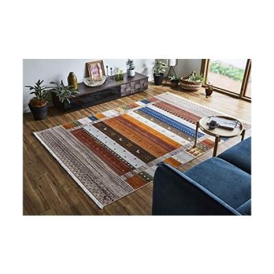 イケヒコ ラグ カーペット トルコ製 ウィルトン織りカーペット 約160?225cm アイボリー コンパクト #2349039