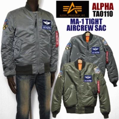【送料無料!!】ALPHA アルファTA0110 MA-1 TIGHT AIRCREW SACメンズ 中綿ブルゾン ma-1 タイト alpha