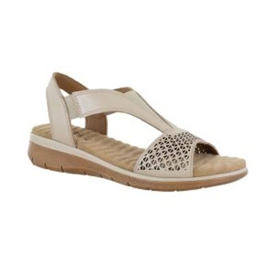 イージーストリート レディース サンダル シューズ Marley Leather Sandals Taupe