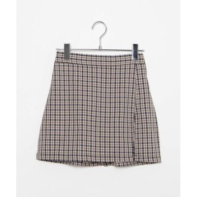 WEGO / DING/チェックスリットミニスカパン WOMEN スカート > スカート