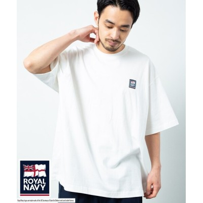 tシャツ Tシャツ ROYAL NAVY/ロイヤル ネイビー ONE POINT ROGO SHORT SLEEVE T-SHIRT/ワンポイント ロ