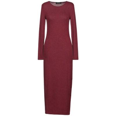DODICI22 ロングワンピース&ドレス ボルドー L レーヨン 77% / アクリル 20% / ポリウレタン 3% ロングワンピース&ドレス