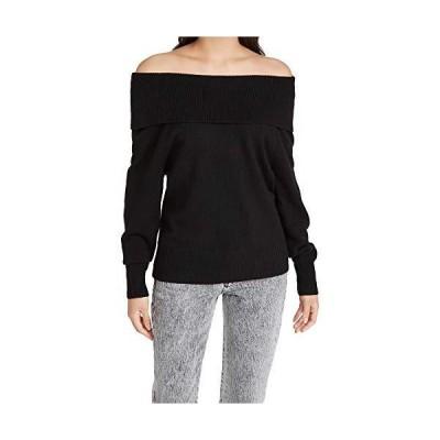 PAIGE レディース Izabella 長袖オフショルダーセーター US サイズ: Medium カラー: ブラック並行輸入品 送料無料