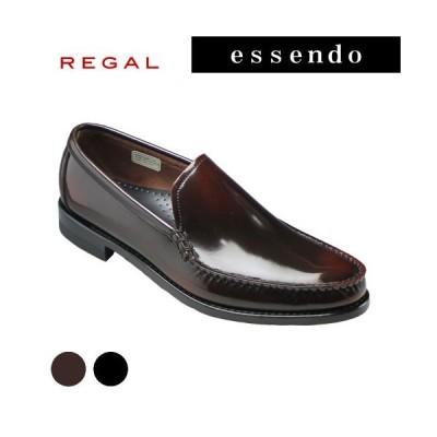 リーガル Uモカシン プレーン ラウンドトゥ コブラヴァンプ RE43VR ブラック ダークブラウン REGAL メンズ 靴
