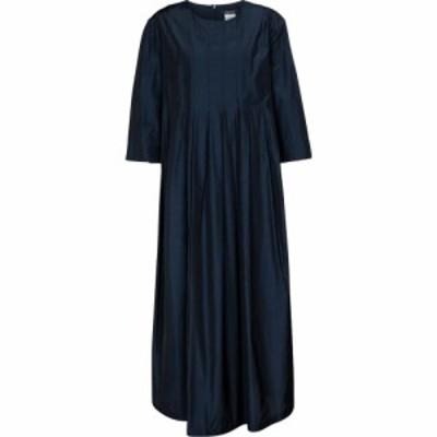 マックスマーラ S Max Mara レディース ワンピース ミドル丈 ワンピース・ドレス Galosce pleated midi dress Ultramarine
