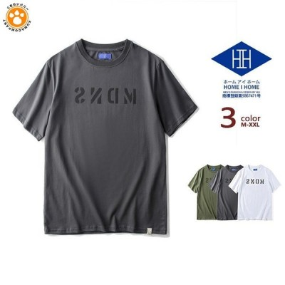 Tシャツ 半袖 メンズ カットソー クルーネック 英文字 ストリート カレッジ カジュアル トップス