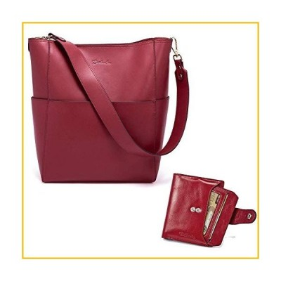 【☆送料無料☆新品・未使用品☆】BOSTANTEN Women's Leather Designer Handbags Tote Purses Shoulder Bucket Bags and Leather Wallet RFID B