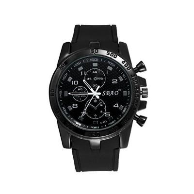 腕時計 メンズ 防水 アナログ シリコンベルト 独立3針は飾り シンプル カジュアル ビジネス ファッション アクセサリー プレセット最適