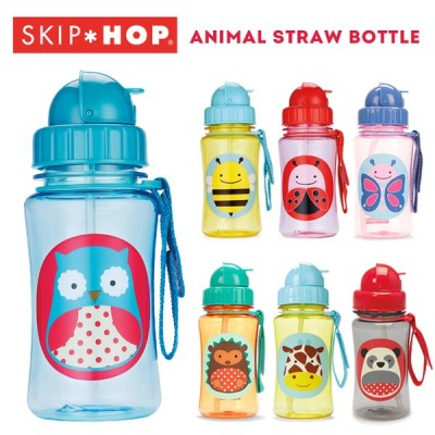 【SKIPHOP スキップホップ】アニマル ストローボトル(水筒/子供用/ベビー/ランチ/ピクニック/遠足)