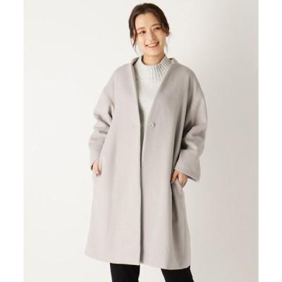 コート チェスターコート 【大きいサイズあり・13号】ワンボタンチェスター風コート
