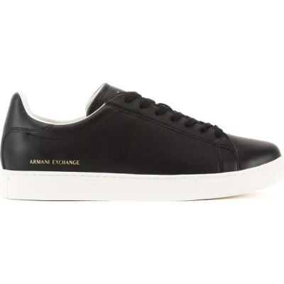 アルマーニ Armani Exchange メンズ スニーカー シューズ・靴 Clean Trainers Black K