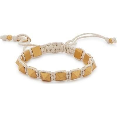 ヴァレンティノ Valentino レディース ブレスレット ジュエリー・アクセサリー garavani rockstud ivory rope bracelet Natural