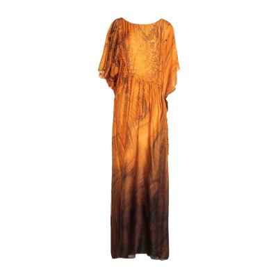 ジャストカヴァリ JUST CAVALLI ロングワンピース&ドレス オレンジ 38 レーヨン 81% / シルク 19% ロングワンピース&ドレス