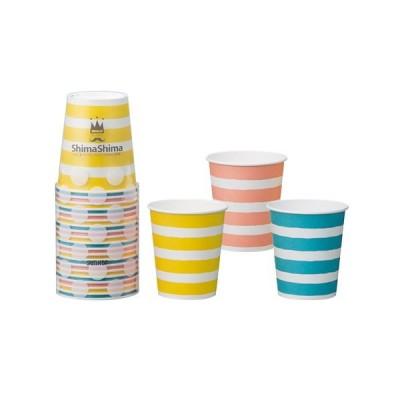 サンナップ しましまペーパーカップ 205mL 3色アソート 20個入│使い捨て容器・食器 使い捨て食器 東急ハンズ