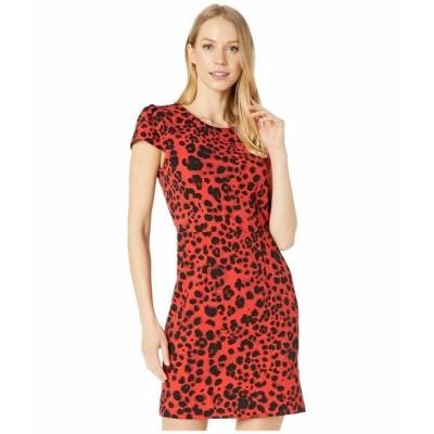 ベッツィジョンソン ワンピース トップス レディース Leopard Mini Dress with V-Back Red Leopard
