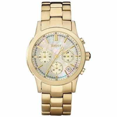DKNY Womens NY8062 Gold Stainless-Steel Quartz Watch with Mother-Of-Pearl Dial