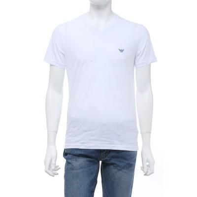エンポリオアルマーニ Tシャツアンダーウェア 半袖 Vネック メンズ 111028 0P578 ホワイト 2020年春夏新作 Emporio Armani