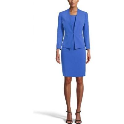 ル スーツ Le Suit レディース スーツ・ジャケット アウター Stretch Crepe Dress Suit Mariner Blue