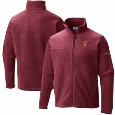 Columbia コロンビア スポーツ用品  Columbia Cleveland Cavaliers Wine Flanker Fleece Full-Zip Jacket