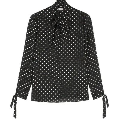 ヴァレンティノ Valentino レディース ブラウス・シャツ トップス Black polka-dot georgette blouse Black