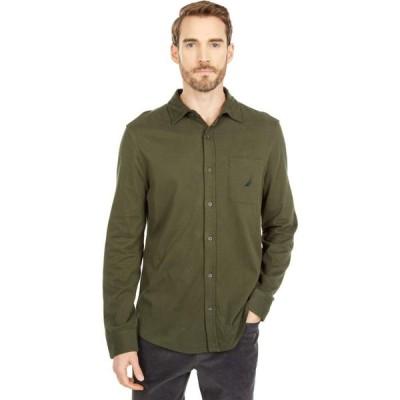 ノーティカ Nautica メンズ トップス Long Sleeve Woven Shirt Forest Night