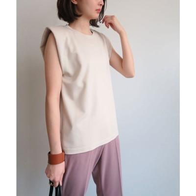 ジーラ GeeRA 【WEB限定】イレギュラーヘムノースリTシャツ (アイボリー)