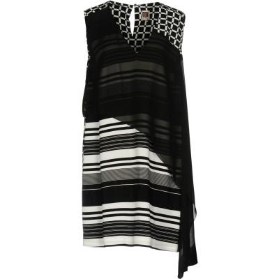 I'M ISOLA MARRAS ミニワンピース&ドレス ブラック 42 レーヨン 100% / アセテート / ポリエステル ミニワンピース&ドレス