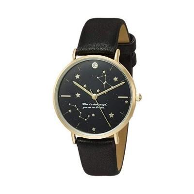 フィールドワークFieldwork 腕時計 アナログ ステルラ 直径34mm 革ベルト ブラック AB011-5 レディース